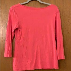 Pink long sleeve Talbots tee